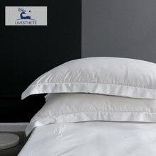 Liv-Esthete White 100% Nature 25 Momme Mulberry Satin Silk Pillowcase Healthy Skin Pillow Case For Women Men Sleeping