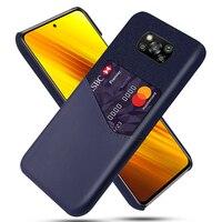 Caso de negocio para Xiaomi Mi Poco X3 NFC 8 9 SE 9T 10T Pro A2 A3 Lite cubierta ranuras de tarjeta caso para Redmi Nota 9 s 8 7 Pro 7A 8A Funda