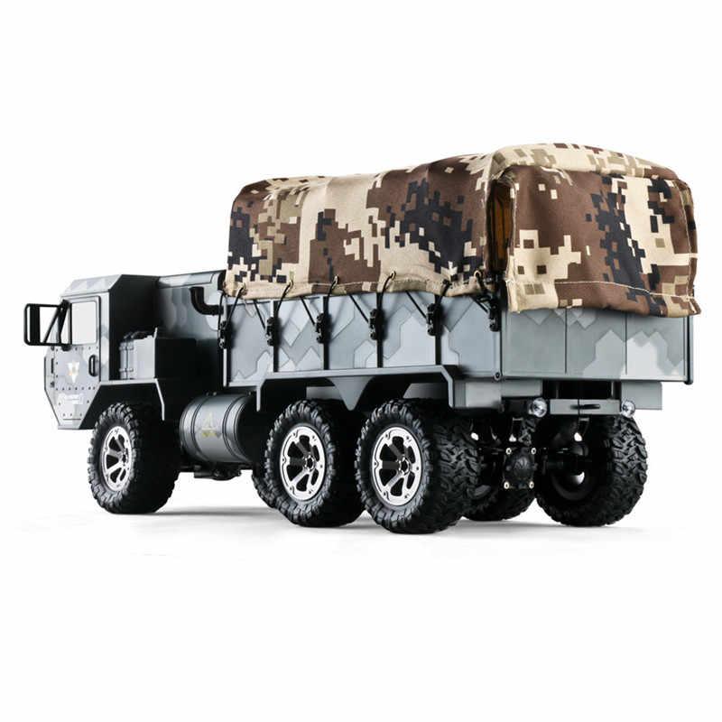 شاحنة مجنزرة عسكرية من Eachine طراز at01 موديل 1/16 2.4G 6WD RC تعمل بالتحكم النسبي في الصخور والطرق الأمريكية مع عدة بطاريات