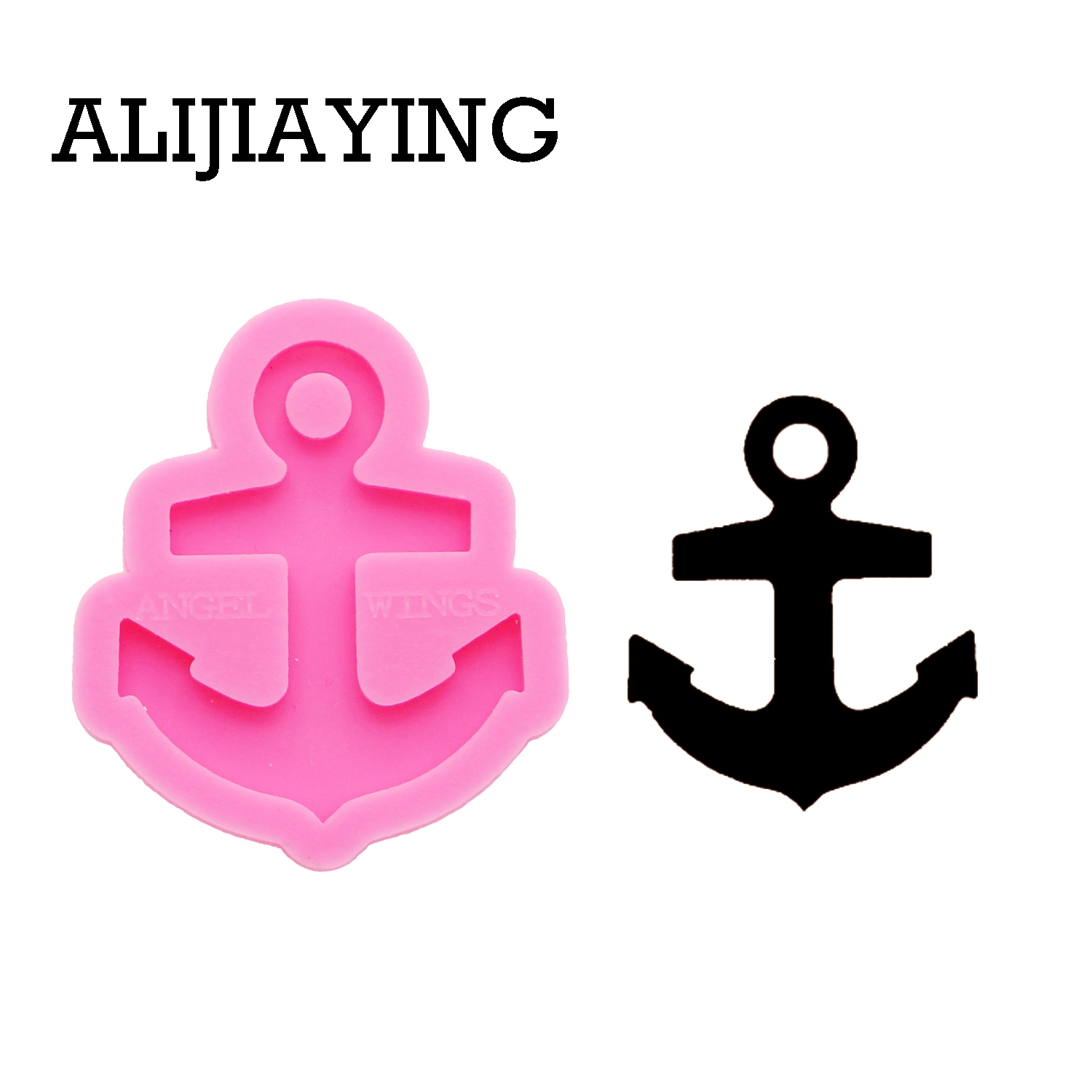 DY0197 Shiny Anchor Mold DIY Keychain Silicone Molds Craft Keyring Pendant Jewelry Keychains Mould Epoxy Resin Table