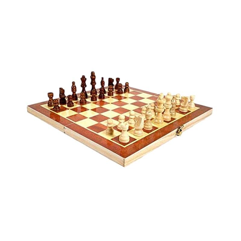 Jogo de Tabuleiro de Madeira de Xadrez Portátil ao ar Dobrável Livre Mod. 313008