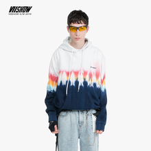 VIISHOW Brand 2019 autumn mens cotton Hoodies Multicolor gradient print Hoodie men Sweatshirt WD1789193