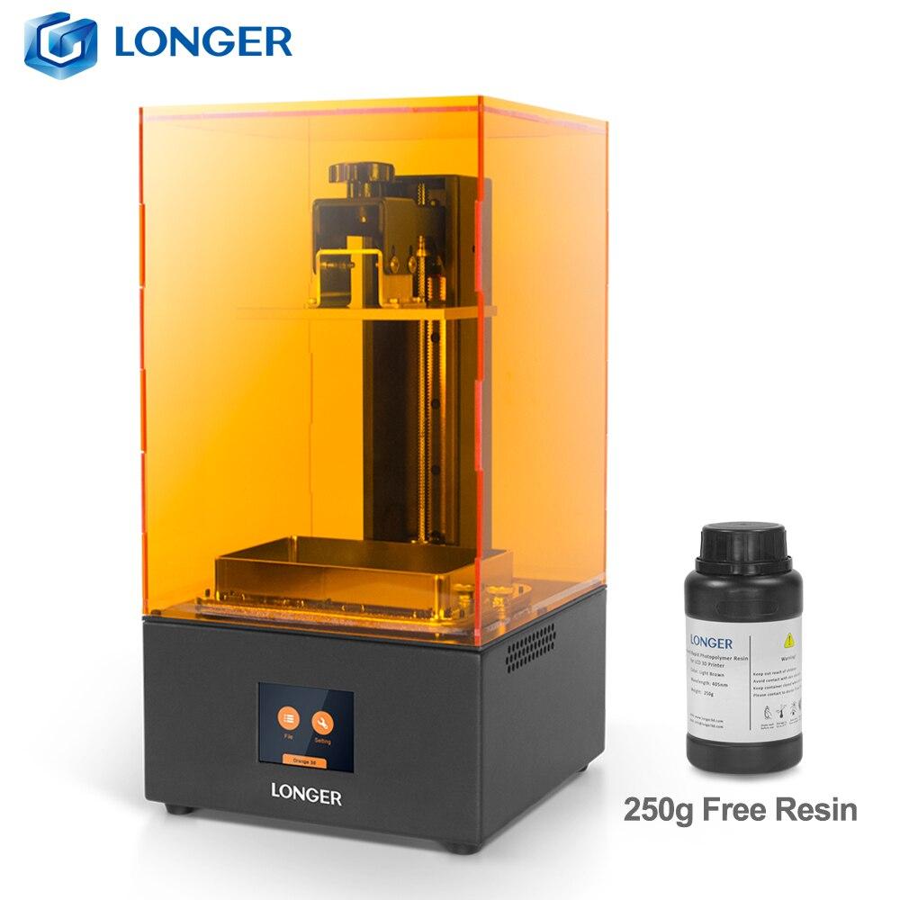 LONGER Orange30 3D Printer High Precision SLA with 2K LCD Screen Parallel UV LED Lighting 405nm Resin