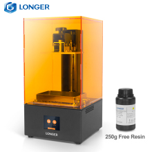 LONGER Orange30 3D Printer High Precision SLA with 2K LCD Screen Parallel UV LED Lighting 405nm Resin