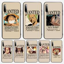 One Piece Luffy Wanted Phone Case For Samsung S note S10E 6 7 8 9 10 20 plus edge lite Cover Fundas Coque