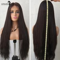 26inch Full Lace Human Hair Wigs Body Wave Natural Straight 2# 4#Color Pre Plucked Brazilian Hair Full Lace Wigs For Black Women