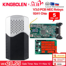5 teile/los DS CDP TCS 9241A Chip Dual Grün Bord V 3,0 Bluetooth 2016 R0/2017 R1 Keygen OBDII diagnose Tool Auto Scanner