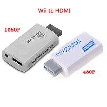 Para wii para hdmi hd completo 1080 pcompatível conversor adaptador Wii2HDMI-Compatible conversor 3.5mm de áudio para pc hdtv monitor exibição