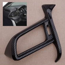 Car ABS Carbon Fiber Style Interior Left Side Air Vent Outlet Cover Trim Frame Fit For Toyota Camry 2018 2019 2020
