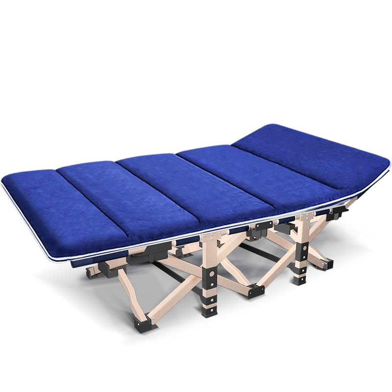 Nipu Folding Bed Single Office Nap Bed Afternoon Recliner Home Simple Portable Army Bed Lunch Break Escort