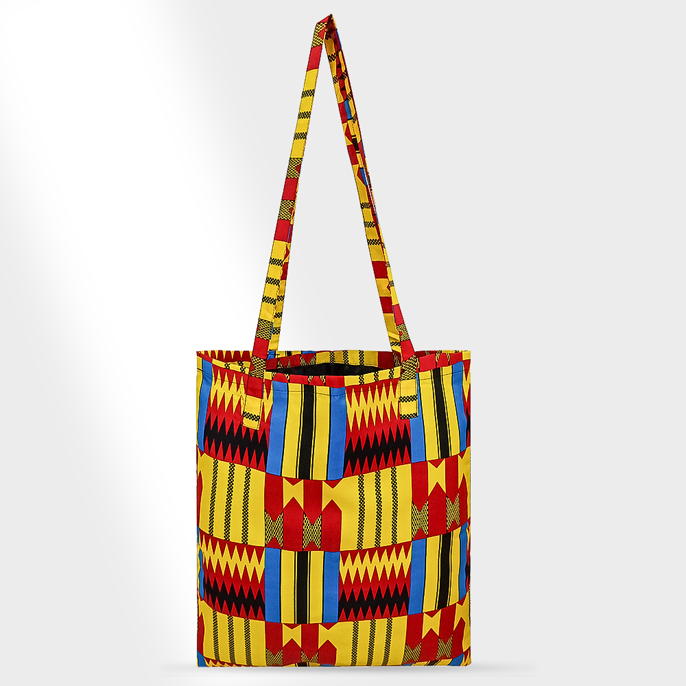 African Bag Handmade Women Bag Cotton Material Print Africa Traditional Ankara Kente Print Bag Have Lining Inclined Shoulder Bag