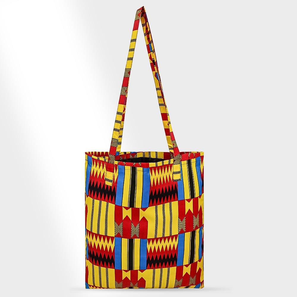 African Bag Handmade Women Bag Cotton Material Print Africa Traditional Ankara Kente Print Bag Have Lining Inclined Shoulder Bag