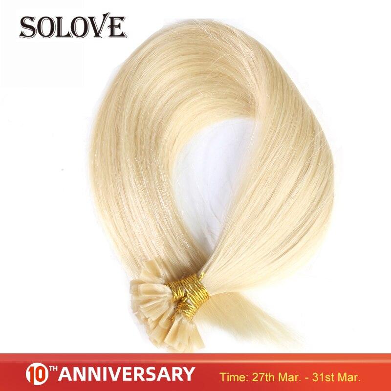 Straight Machine Made Remy Hair Extensions 1g/pcs 50pcs/ Set Straight Keratin Nail / U Tip Human Hair