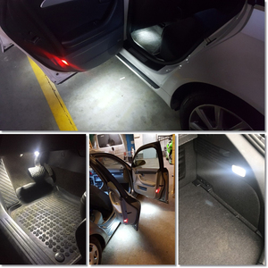 Image 5 - 2pcs LED Car Door Courtesy Lamp For Audi A1 8X A3 A4 B5 B6 A5 A6 C5 C6 C7 A7 Q5 SQ5 100 8P 8V TT 8J Auto Interior Welcome light