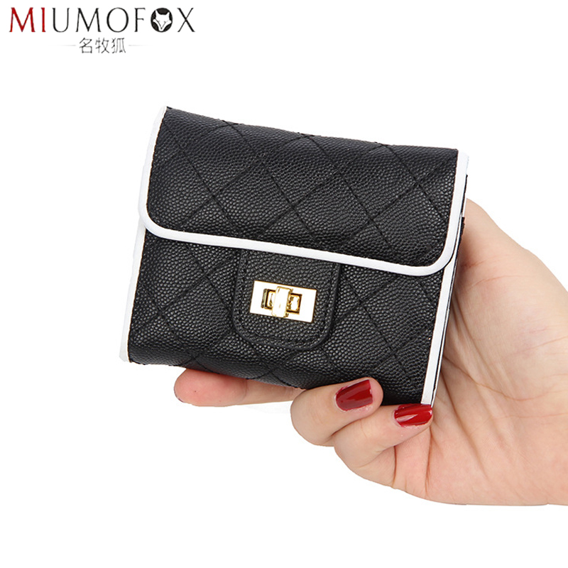 2020 New Real Leather Card Holder Women's Credit ID Business Card Case Bag Fashion Designer Plaid Coin Purse Short Wallet Female