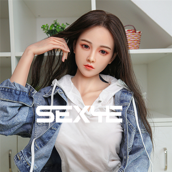 цена на SEXYE 158 cm Full Size Height EVO Metal Skeleton Silicone Real Implanted Hair Real Love Doll Sex Doll For Adult Toys  for Man