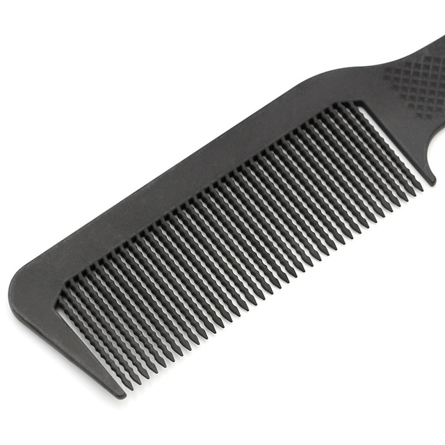 Anti Static Long Waved Teeth Carbon Comb Women Make Hair Smooth Tangle Comb Professional Hairdressing Men Comb For Hairstyling