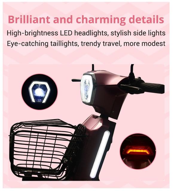 Motocicleta Eléctrica CE Cert Fast High-power Energy-saving Motor Moped Bicycle Light Electric Motorcycle EU Trans 4