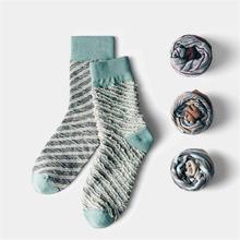 Новинка модные мужские повседневные хлопковые носки осенне зимние