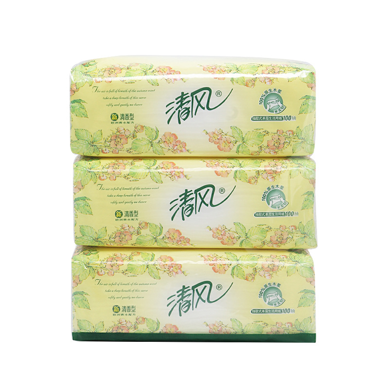 Genuine Product Breeze Paper Extraction 3 Bag Mentioning Virgin Wood Pulp Single Layer 100 Pieces Paper Towel A Generation Of Fa