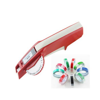 Drukarka do etykiet Dymo 1610 + 5 sztuk 3D tłoczenie instrukcja maszyna do pisania Dymo ręczna drukarka etykiet ręczna etykieciarka do 6 9mm tanie i dobre opinie KZE TAPE CN (pochodzenie) Wstążki drukarki Oryginalny Manual printing Suitable for 6mm and 9mm label
