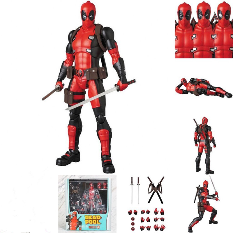 6inch New Mafex 082 Deadpool Comic Version Action Figure Collectable Model Toy Doll Gift image