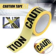 Fita de advertência amarela fita de cuidado lembrar as fitas adesivas da segurança do trabalho para a barreira de segurança para a barricada 4.8cm × 25m da polícia