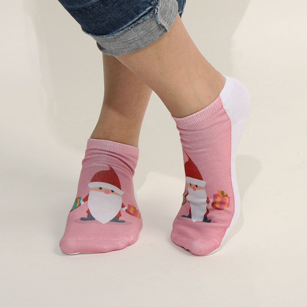 H95f371cfc7e94145aa0c49a4d740ae49I - 1pair Fashion Christmas Socks Women Cartoon Funny Cute Winter Female & Hosiery Cotton Square Foot Personality Socks Harajuku