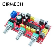CIRMECH preamplificador de amplificador HIFI LM1036 OP AMP, tono de volumen, placa de Control EQ, KIT DIY y producto terminado