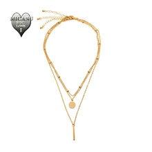 Многослойные ожерелья с бусинами ожерелье для женщин модная