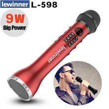 Lewinner L 598 רמקול מיקרופון 9W קריוקי מערכת Bluetooth מקצועי צליל דינמי מיקרופון TF כרטיס