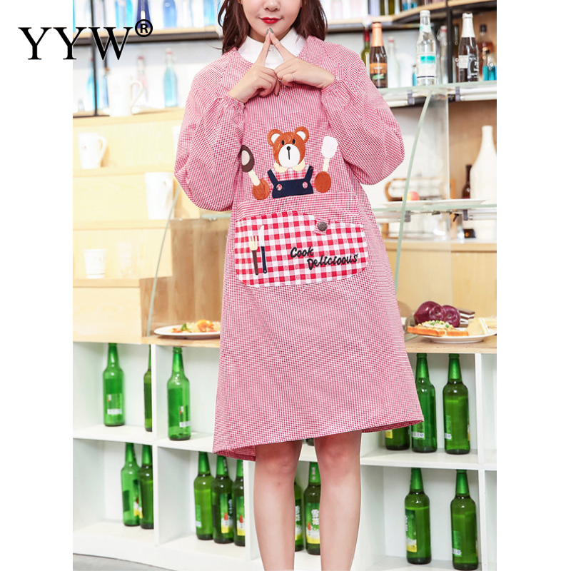 Kitchen Apron For Hairdresser Aprons For Woman Cooking Apron Cotton Antifouling Waterproof Aprons Cute Apron For The Manicurist|Aprons| |  - title=