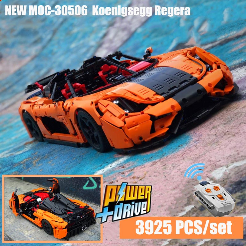 2019 New Moc-30506 Technic RC Koenigsegg Regera PDF Instructions Building Blocks Toy Kit DIY  Educational Children Birthday Gift