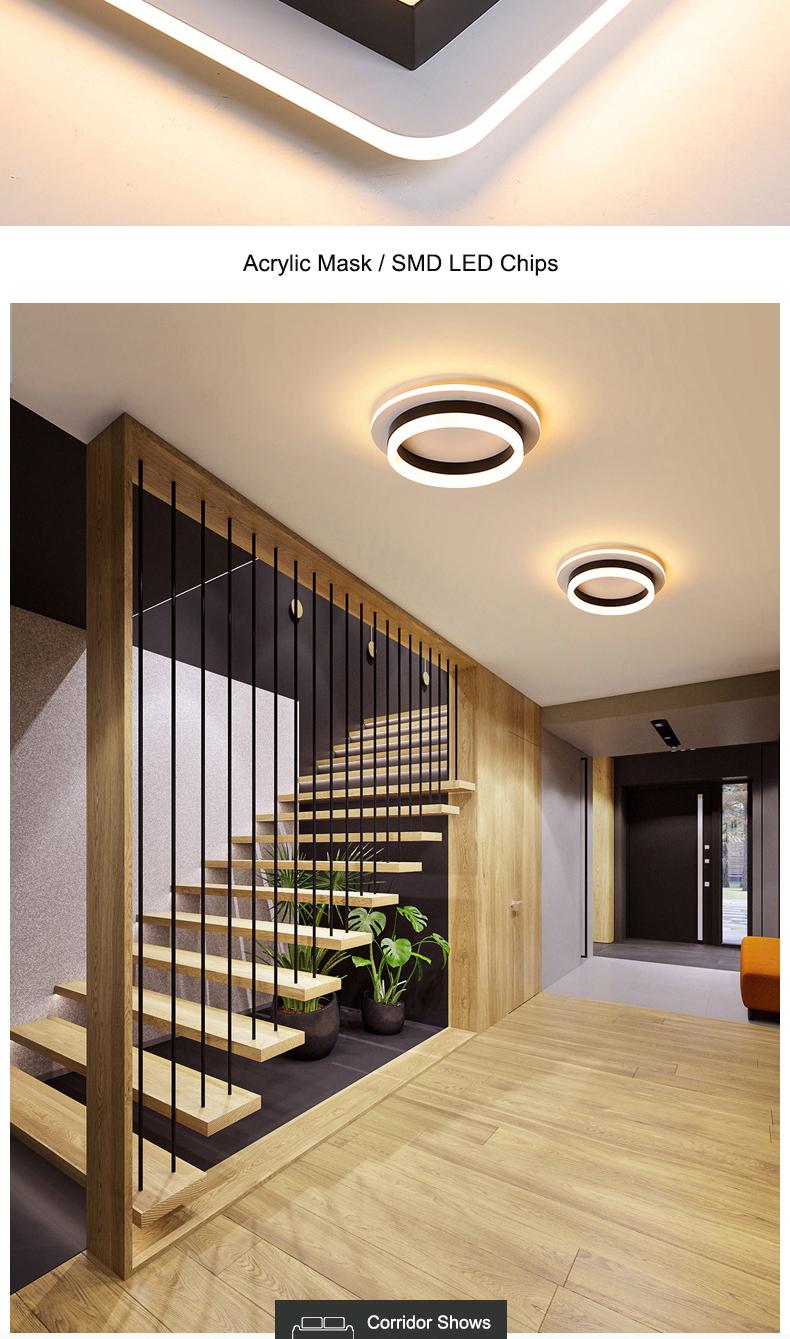 H95f3c232db3a4c089206c080628e4e05t Modern Led Ceiling Lights For Hallway Porch Balcony Bedroom Living Room Surface Mounted Square/Round LED Ceiling Lamp
