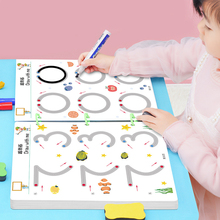 Children Montessori Toys Educational Math toys Drawing Tablet Pen Control Hand Training For Boy Girl Shape Math Match Game Book