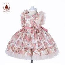 Платье yoliyolei для девочек с вышивкой испанская Лолита детское