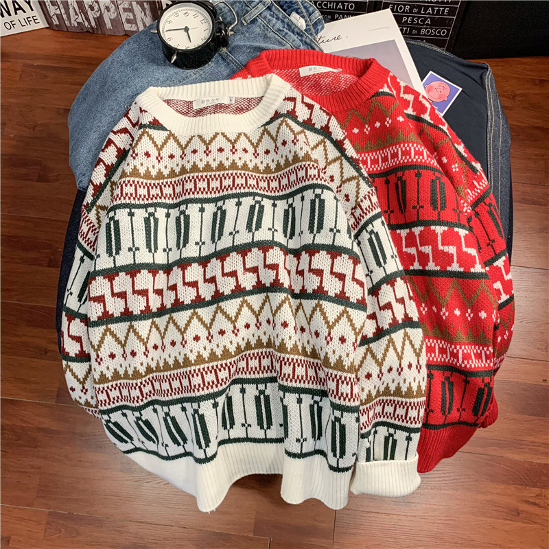 Winter Thick Sweater Men's Warm Fashion Retro Casual Pullover Men Streetwear Wild Knitting Sweaters Male Sweter Clothes M-2XL