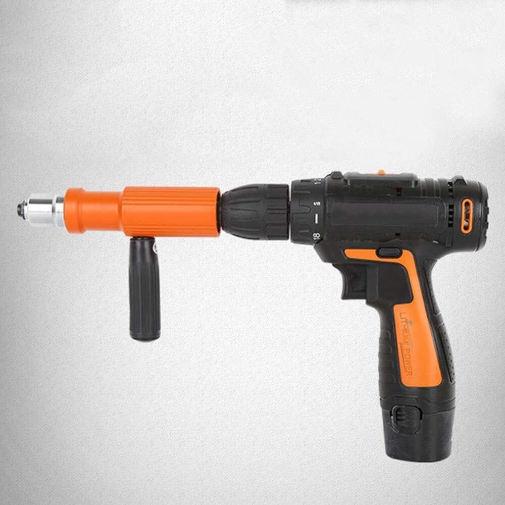 Electric Rivet Nut Gun Riveting Tool Cordless Riveting Drill Adaptor Insert Nut Tools Suitable 2.4-5mm Pull Riveting Machine