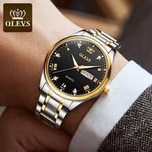Top marque OLEVS hommes classique Quartz étanche montre bracelet en cuir affaires populaire montre décontractée pour homme horloge