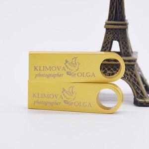 Image 3 - Real Capacity 64GB 32GB 1GB 4GB 8GB Metal USB Flash Drive Mini Memory Stick Pendrive Photography Bulk Gift(over 10pcs Free Logo)