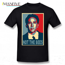 Nicolas Cage T Shirt Not The Bees T-Shirt Men Plus size  Tee Short Sleeve Cotton Funny Print Beach Tshirt
