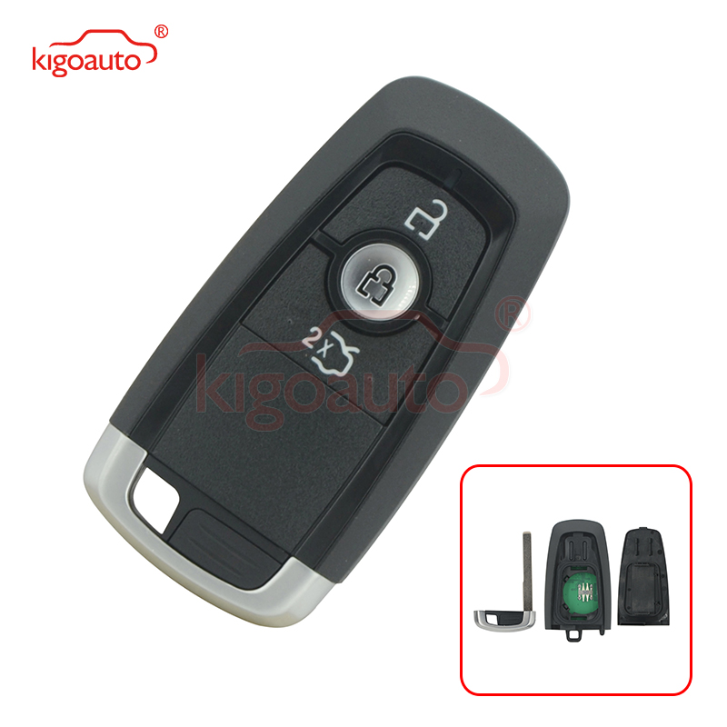 Kigoauto HS7T-15K601-DC Smart key 3 button 433Mhz HITAG PRO ID49 chip for Ford Mondeo 2017 Edge Explorer 2018 A2C93142101