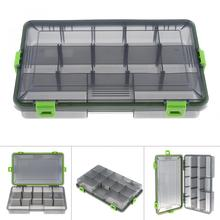 Waterproof & Seal 26.5cm x 16.5cm x 4.6cm Activity 11 Compartments 4 Lock Fishing Tackle Box for Fishing Hook Swivel Ring Lures