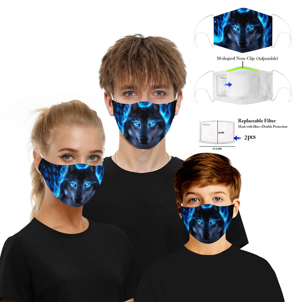 FASHION New Cloth Mask Face Funny Adult Kids 3D Printed Face Masks Cotton Anti-Dust Mouth Mask Clothing Accessories For Party