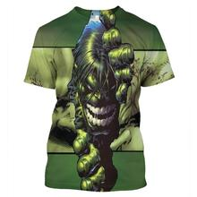 LBG new 3D Print Hulk T-shirt Marvel Hero Hulk Casual Short Sleeve Fashion Harajuku Men and Women T-shirt Hulk Hero T-Shirt indestructible hulk volume 2