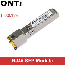 ONTi Gigabit RJ45 SFP Modulo 1000Mbps SFP In Rame RJ45 Modulo Transceiver SFP Compatibile per Cisco/Mikrotik Switch Ethernet(China)