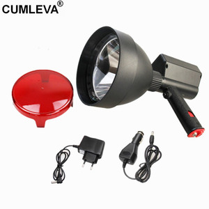 Rechargeable Imported XML2 CREE T6 10W LED Hunting Handheld Spotlight 150mm LED Portable spotlight 1200LM Durable Spot Beam Lamp(China)
