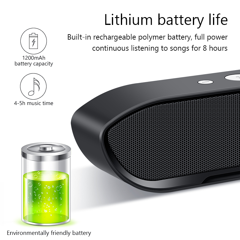Portable Wireless Bluetooth Speaker Stereo big power MP3 Music MIC Subwoofer Speakers for iPhone Computer Bass Speaker Altavoz 5