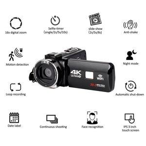 Image 1 - Full HD 4K Video Camera Wifi Handheld DV Professional Night Vision Anti Shake Digital Photo Camera Camcorder Flow Stabilizer