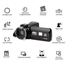 Full HD 4K Video kamera Wifi el DV profesyonel gece görüş Anti Shake dijital fotoğraf kamerası kamera akış sabitleyici